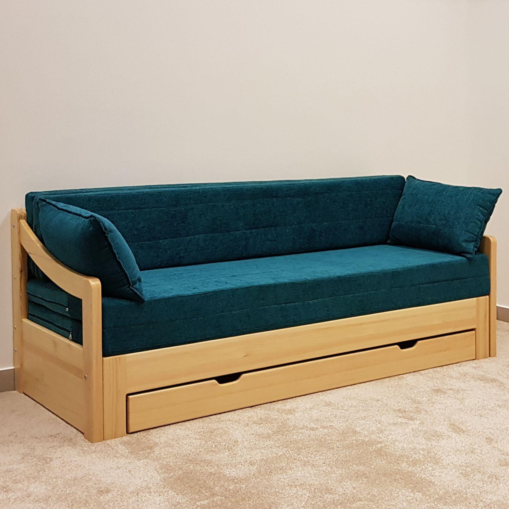 Akciós bútorok : MAMMUT 3N háttámlás Teal (türkiz) - Nyitható kanapé
